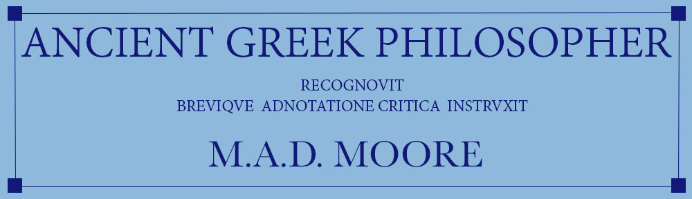 Ancient Greek Philosopher
